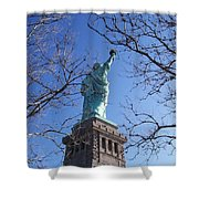 Back Of Liberty Shower Curtain
