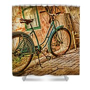 Back Patio Shower Curtain by Nikolyn McDonald