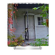 Back Porch Door Shower Curtain
