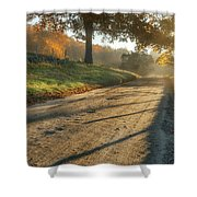 Back Road Morning Shower Curtain