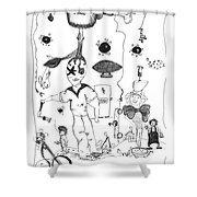 Back Rooms Of My Mind Door 10313 Shower Curtain