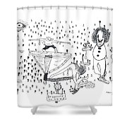 Back Rooms Of My Mind Door 16113 Shower Curtain
