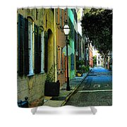 Back Street In Charleston Shower Curtain