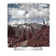 Back To Mountains Shower Curtain