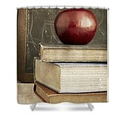 Back To School Apple For Teacher Shower Curtain