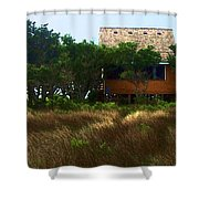 Back To The Island Shower Curtain