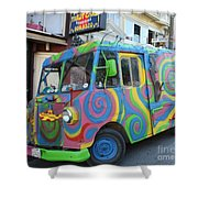 Back To The Sixties Shower Curtain