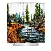 Back To Yesterday Shower Curtain