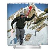 Backcountry Skiing, Citadel Peak, Co Shower Curtain