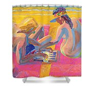 Backgammon Shower Curtain
