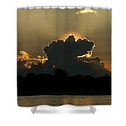 Backlit Clouds During Sunset Over Lago Shower Curtain