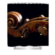 Backlit Scroll Shower Curtain