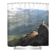 Backpackers Hike In Chugach State Park Shower Curtain