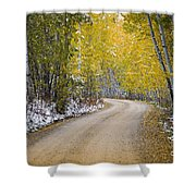 Backroads Of Autumn Shower Curtain