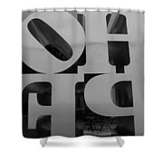 Backside Of Hope In Black And White Shower Curtain