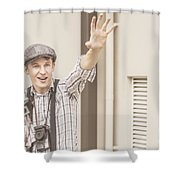 Backup Photo Journalist  Shower Curtain