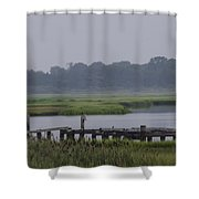 Backwater Bayau Shower Curtain