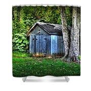 Backyard Barn Shower Curtain