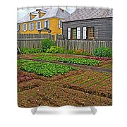 Backyard Garden In Louisbourg Living History Museum-1744-ns Shower Curtain