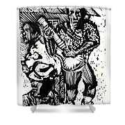 Backyard Music Shower Curtain