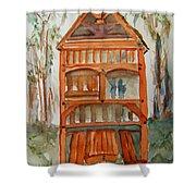 Backyard Play Hut Shower Curtain