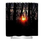 Backyard Sunset 2 Shower Curtain