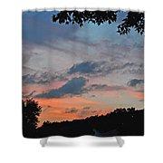 Backyard Sunset Shower Curtain