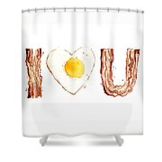 Bacon And Egg Love Shower Curtain