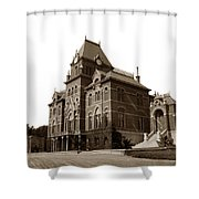 Bacon Hall University Of California Berkeley Circa1895 Shower Curtain