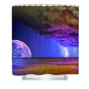Bad Moon Rising Shower Curtain