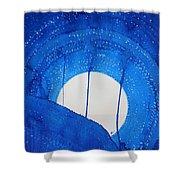 Bad Moon Rising Original Painting Shower Curtain