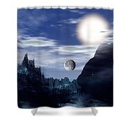 Bad Moons On The Rise Shower Curtain