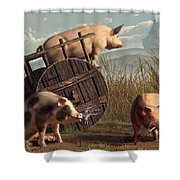 Bad Pigs Shower Curtain