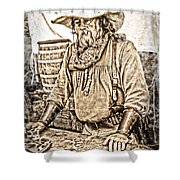 Bad Times Pilgrim Gotta Be Ready Shower Curtain by Randall Branham