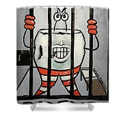 Bad Tooth Shower Curtain by Anthony Falbo