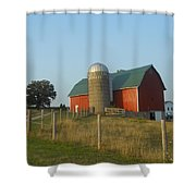 Badgers Red Shower Curtain