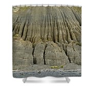 Badland Erosion Of Soft Conglomerate Sediment Shower Curtain