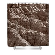Badlands Light Bw Shower Curtain