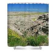 Badlands National Park  1 Shower Curtain