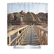 Badlands Walkway Shower Curtain