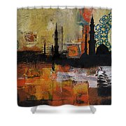 Badshahi Mosque Motives Shower Curtain