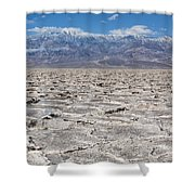 Badwater Basin - Death Valley Shower Curtain