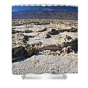 Badwater Telescope Peak Extremes   Shower Curtain