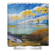 Fishing Baffin Bay Texas  Shower Curtain