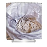 Bag Of Flour With Scoop Shower Curtain