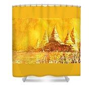 Bagan Heat Shower Curtain