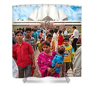 Baha'i House Of Worship - New Delhi - India Shower Curtain