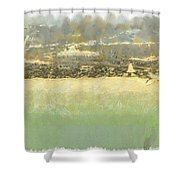 Bahai House Of Worship And Lake Michigan Shoreline Shower Curtain