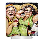 Bahama Mamas Shower Curtain by Shelly Wilkerson
