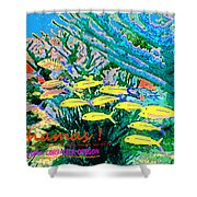 Bahamas Coral Reef Shower Curtain